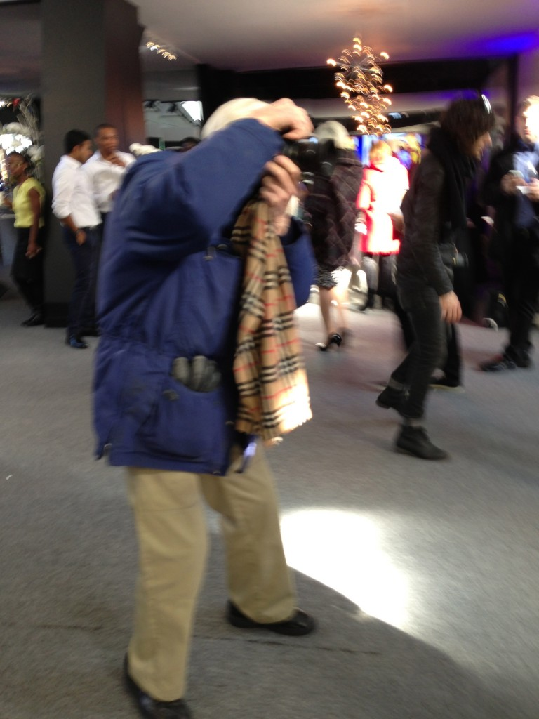 Bill Cunningham busy doing what he does best