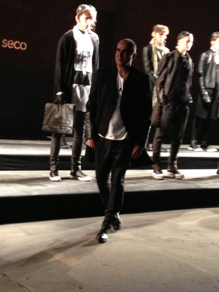 Designer Ricardo Seco taking his runway walk