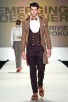 Emerging Designer Winner Afriyie Poku's menswear.  Photo by Glenn Barnette Courtesy of Charleston Fashion Week®