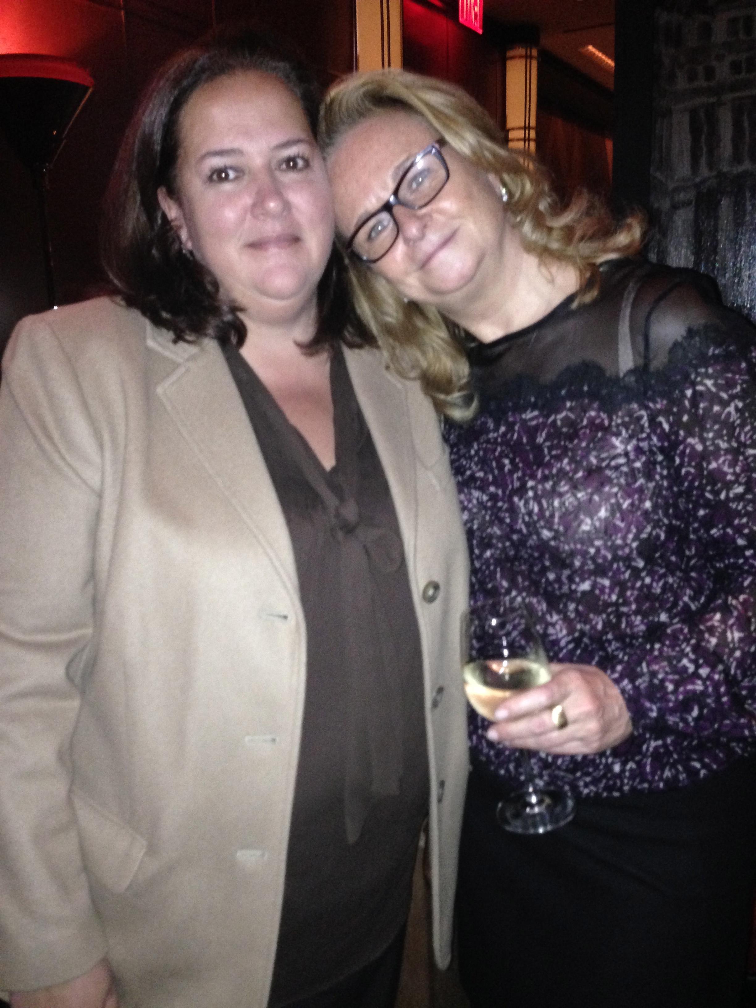 The lovelies: IMG's Christina Neault with Lisa Silhanek. Photo Kim Cihlar.