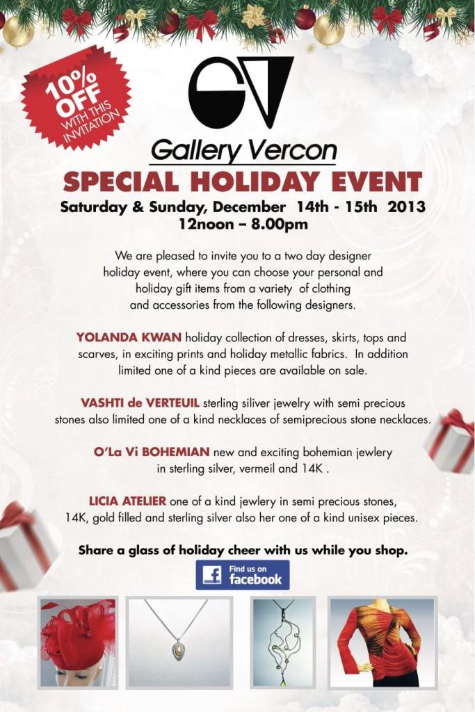 Invite for Saturday's event at Gallery Vercon on 9th Street