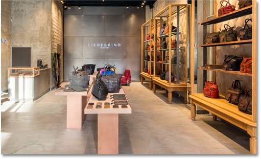 The gorgeous interior of the Liebeskind NYC shop