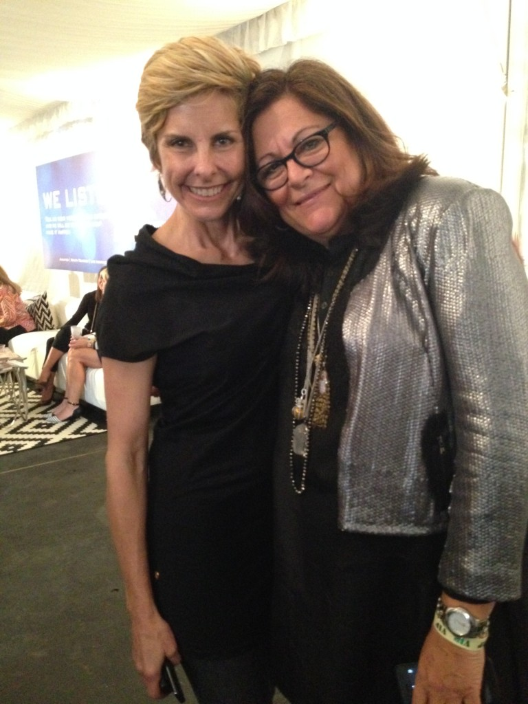 Fern Mallis with former Moo Roo Designer Mary Norton