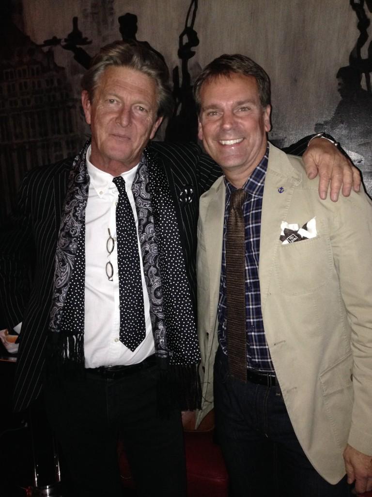 Designer Nick Graham with John Kammeier