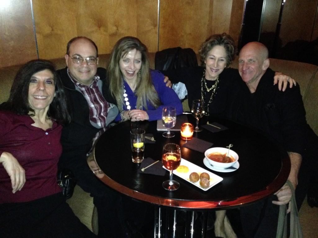 Fairchildren Jean Palmieri, John Aquino, Catherine Salfino and Tom Beebe with PR guru Judy Agism, second from right