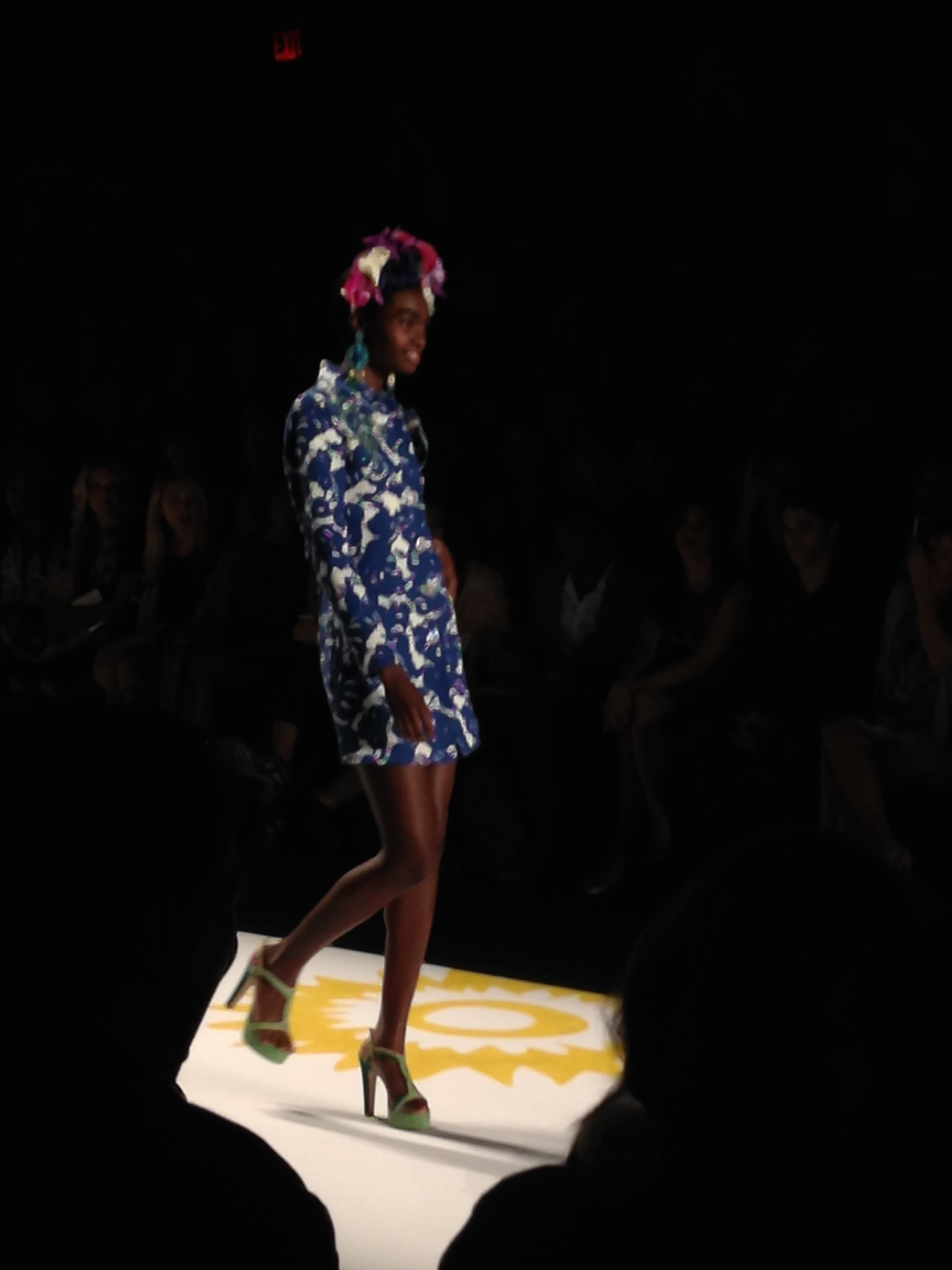 Awww, thanks for the flowers, Desigual! S/S '15 MBFW ...