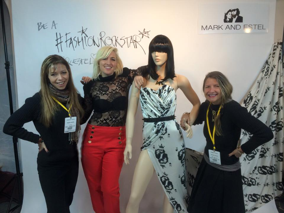 Catherine with designer Estel Day of Mark and Estel, and yours truly