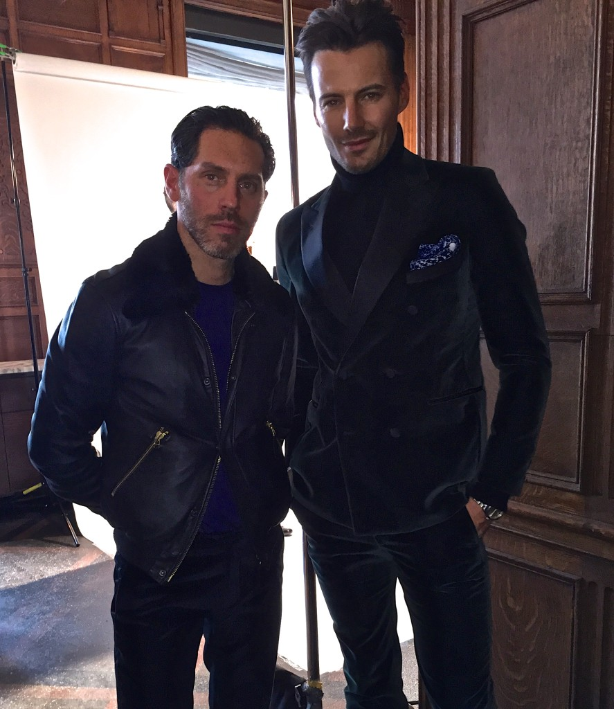 Stephen with business partner Alex Lundqvist, who makes for a great brand ambassador of the collection