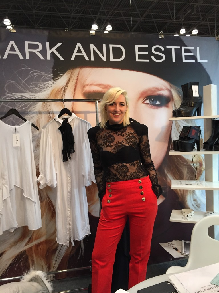 Estel Day, half of Mark and Estel, at her Coterie booth