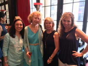 Filmmaker VIcki Vasilopolous, Rachel Spevak, Mary Ellen Barone and Catherine Salfino