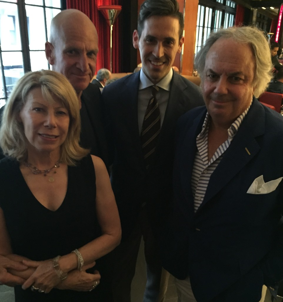 MWN Founding member Mary Ellen Baron with Tom Beebe, Jonathan and menswear legend Alan Flusser