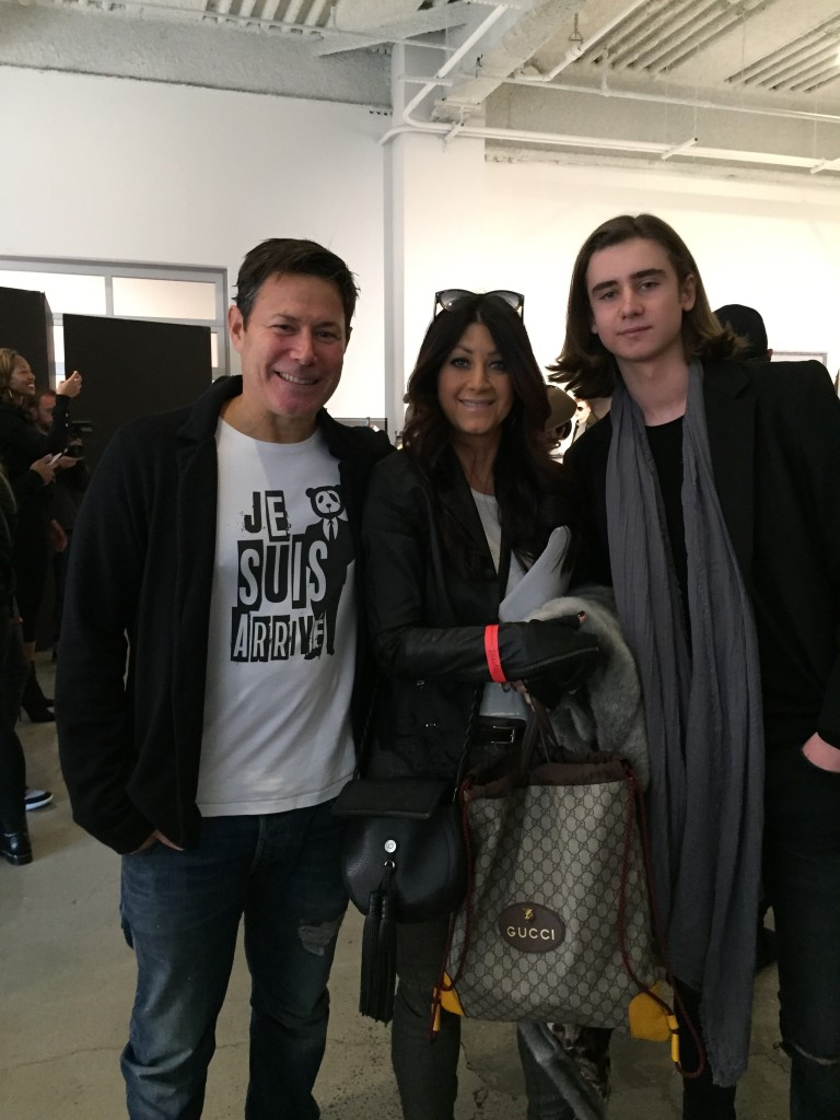 Diplomacy's founder & CEO Jeff Fagen with NYFW:Men's newcomers Elizabeth Rubin and Lukas Borjessen